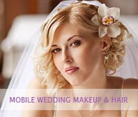 expert contouring by wedding makeup artist draws attention to the bride's best features